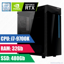 Oyun komputeri GIGABYTE C200 GLASS RGB i7-9700K-32GB,480SSD+1TB HDD-GTX1660 Super 6GB