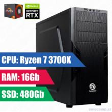 Oyun komputeri Thermaltake RYZEN 7 3700X-16GB,480SSD+1TB HDD-RTX-2060 6Gb