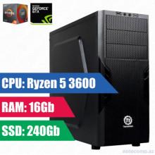 Oyun komputeri Thermaltake RYZEN 5 3600-16GB,240SSD+1TB HDD-GTX 1650 4 GB