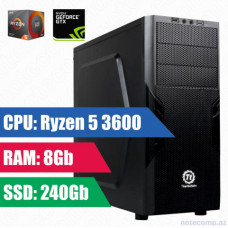 Oyun komputeri GameMax RYZEN 5 3600 RAM-8GB,240SSD -GTX 1650 4 GB