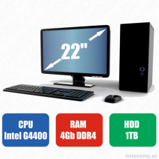 Masaüstü kompüter Lenovo G4400-RAM 4GB-HDD 1TB-Lenovo Monitor 22Full HD 1920 x 1080