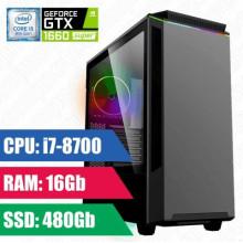 Oyun komputeri GAMEMAX Paladint i7-8700-8GB,480SSD,GTX1660 Super 6GB