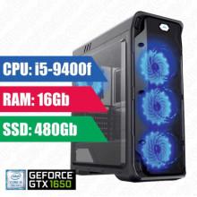 Oyun komputeri GameMax Starlight i5-9400f-16GB,480 SSD,GTX1650 4GB,650W